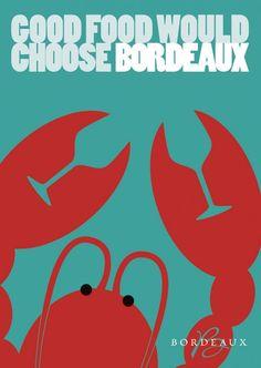 Good Food would choose Bordeaux. Wine Advertising, Advertising Design, Advertising Agency, Ads Creative, Creative Advertising, Petite France, Negative Space Art, Bordeaux Wine, Wine Art