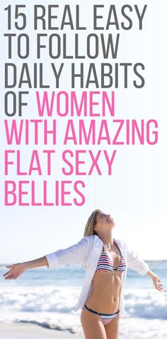 15 daily habits of women with amazing abs.