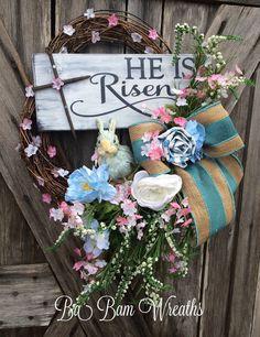 Spring Wreath Easter Wreath Spring Door Spring by BaBamWreaths