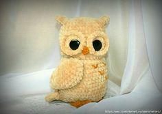 Сова, автор Татьяна Кучерявая Crochet Owls, Knit Crochet, Disney Characters, Fictional Characters, Creations, Teddy Bear, Dolls, Knitting, Handmade
