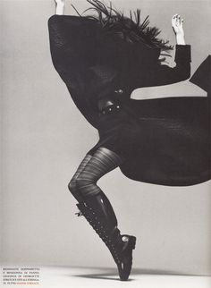 Stephanie Seymour, 1993. Movement. This is another fashion image by Avedon…