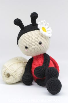 Jadybug the Ladybug amigurumi pattern by helloyellowyarn