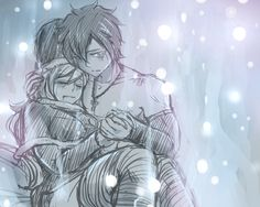 Juvia didn't know ice can be this warm  Thank you , Gray-sama , for letting Juvia stay by your side …  A warm-up sketch for today , guess ...
