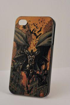 Batman iPhone case - Custom comic iPhone case - iPhone 4/4s case - iPhone 5 case - Hard Plastic case - DC Superhero. $12.00, via Etsy.