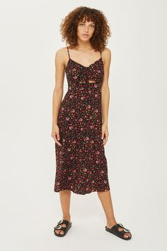 eb288b1ca6c DITSY Knot Tie Front Dress - New In Dresses - New In - Topshop Ditsy Floral