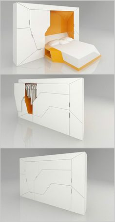 Fold up bed and closet.
