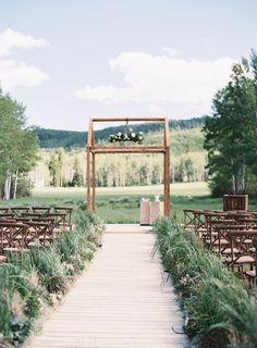 Outdoor Aspen Wedding   Real Weddings   OnceWed.com