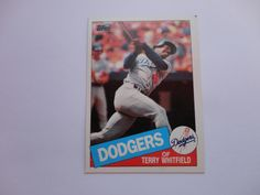 Terry Whitfield 1985 Topps Baseball Card.