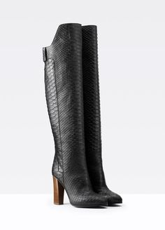 Dempsey Stamped Python Knee-High Boot | Vince