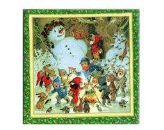 Quadrinho Azulejo Natal Boneco de Neve