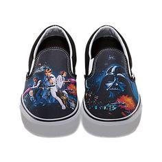 "Vans ""Star Wars, Episode IV: A New Hope"" Slip On Sneakers, Women's Size 11.5 (aka Men's Size 10.0), $60 via Vans.Com"
