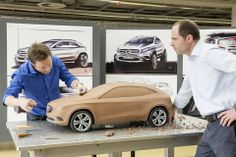 OG | 2014 Mercedes-Benz GLA | Mark Fetherston (left), Robert Lesnik (right) beside the clay model