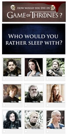 QUIZ: How would you die in Game of Thrones? What, you think you'd actually survive in the world of Westeros? Ha!