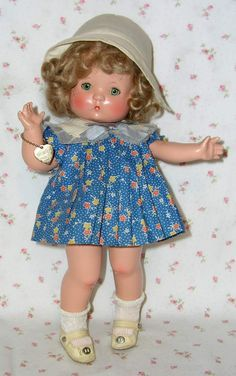 """1930s Effanbee 13"""" Wigged PATSY Doll -- All Original -- Outstanding ! from dollyologyvintagedolls on Ruby Lane"""