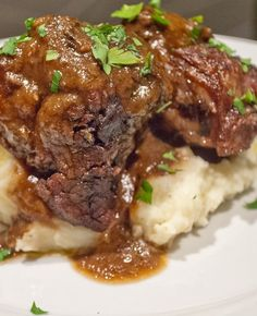 Recipe For Braised Beef Short Ribs. Pinned says: I changed this to the crockpot for six hours on low....still melt in your mouth tender! Brown it first for the color.