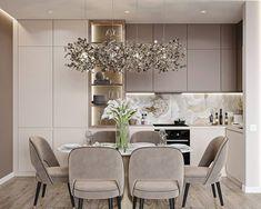Modern Kitchen Interiors, Luxury Kitchen Design, Kitchen Room Design, Home Room Design, Luxury Kitchens, Home Design Decor, Interior Design Kitchen, Kitchen Island Decor, Home Decor Kitchen