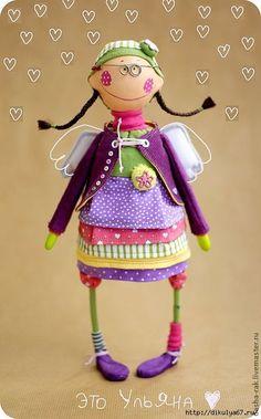 Angel by Dasha Rak Ugly Dolls, Cute Dolls, Handmade Toys, Handmade Art, Monster Dolls, Sewing Dolls, Doll Tutorial, Soft Dolls, Soft Sculpture
