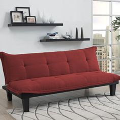 Shop a great selection of DHP Lodge Convertible Futon Couch Bed Microfiber Upholstery Wood Legs, Red. Find new offer and Similar products for DHP Lodge Convertible Futon Couch Bed Microfiber Upholstery Wood Legs, Red. Futon Sofa Bed, Futon Mattress, Sofa Couch, Lounge Couch, Mattresses, Sleeper Couch, Futon Bedroom, Sofa Set, Couches