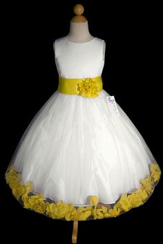 Yellow flower girl dress if i could marry my husband every year flower girl dresses with yellow petals mightylinksfo