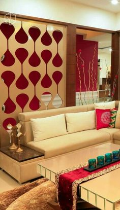 Interior Design Drawing Room on Glass Partition In Living Room ...