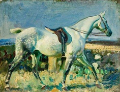 Sir Alfred Munnings -what a gorgeous grey