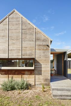 Trio Style Co // Modern Timber Coastal Home Still Achieves Bushfire and Energy Ratings Australian Architecture, Residential Architecture, Architecture Design, Roman Architecture, Landscape Architecture, House Cladding, Timber Cladding, Home Still, A Frame Cabin