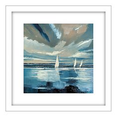 Buy Stuart Roy - Blue Horizon 1 Framed Print, 62 x 62cm Online at johnlewis.com