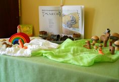 Waldorf Spring nature table :: St. Patrick's Day March