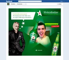Heineken Star Glorifier App / Part of a digital Heineken tender that we won ( Art Direction: Michal Hornicky )