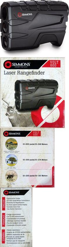 simmons volt 600 rangefinder. range finders 31712: *brand new* simmons laser rangefinder volt 600 w case 4x20mm