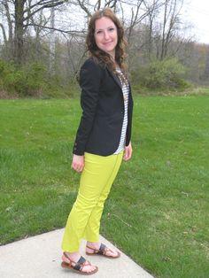 the second best: thursday threads [blazer week: black & (neon) yellow]