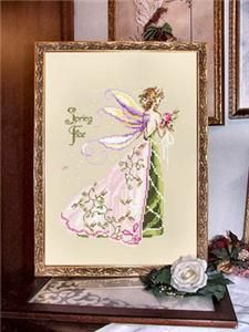 Little Spring Fae Cross Stitch Pattern (10-1772) Embroidery Patterns by Passione Ricamo
