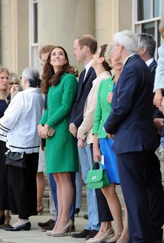 At Stage One of Tour De France; Prince William  Princess Catherine and Prince Harry share in the excitement.  Kate looks wonderful as usual!