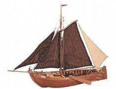 The Artesania Latina Zuiderzee Botter wooden ship model is an accurate reproduction of the real life ship.