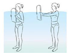 sesión de ejercicios de calistenia en agua (inglés)