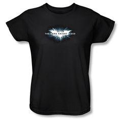 Batman Dark Knight Rises Movie Logo Womens T-Shirt $20.99
