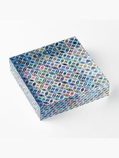 """Colorful Mosaic Tiles"" Acrylic Block by MYSTIQU3 