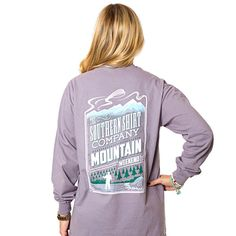 Mountain Weekend Long Sleeve Tee in Grey Ridge by The Southern Shirt Co.  - 1