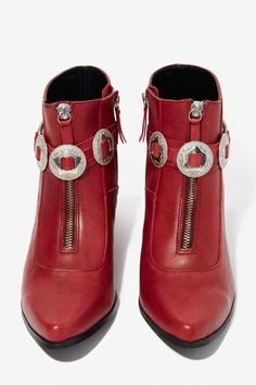 Concho Leather Bootie