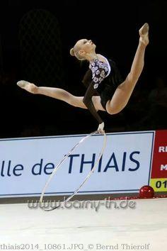 Anastasia Mulmina (Ukraine) /World Cup 2014 in Thiais /March 2014... #rhythmic #gymnastics #hoop