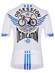 Bike Obsession Mens White Cycling Jersey from Cycology Clothing