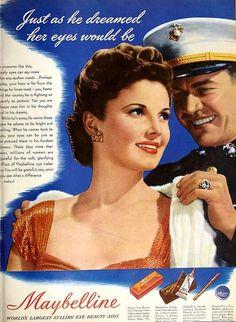 Maybelline, October 1943. #vintage #WW2 #makeup #1940s