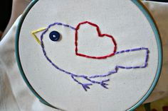 Embroidery for kids! <3