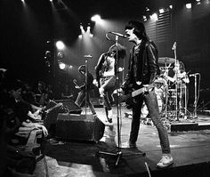 RAMONES Live at the Roundhouse , London , January 1978 . Photo by , Denis O' Regan.