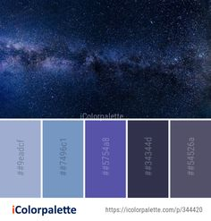 Color Palette Ideas from Galaxy Atmosphere Spiral Image Colour Pallette, Colour Schemes, Color Combos, Galaxy Room, Galaxy Art, Decoration Palette, Pantone, Galaxy Colors, Galaxy Painting