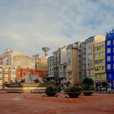 Plaza del Mercado Municipal de #MonteAlto #Coruña