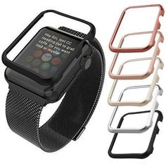 Stylish High Quality Aluminum Metal Alloy Frame Cover Case Protector 38mm & 42mm For iWatch Apple Watch Series 1 Capa 4 Colors