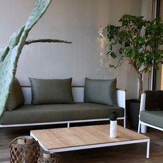 Terracce setting at Residenze Libeskind City Life Milan. Riad Sofa White alluminium frame and Salvia Cuschions for in . Decor, Sofa Side Table, House Styles, House Design, Outdoor Decor, Sofa, Outdoor Sofa, Interior Design, Home Decor