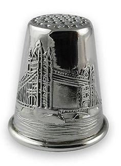 RP: Sterling silver Tower Bridge Thimble - ebay.com
