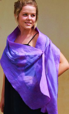 Australian Merino Wool and Silk Chiffon Nuno by juliaheartfelt